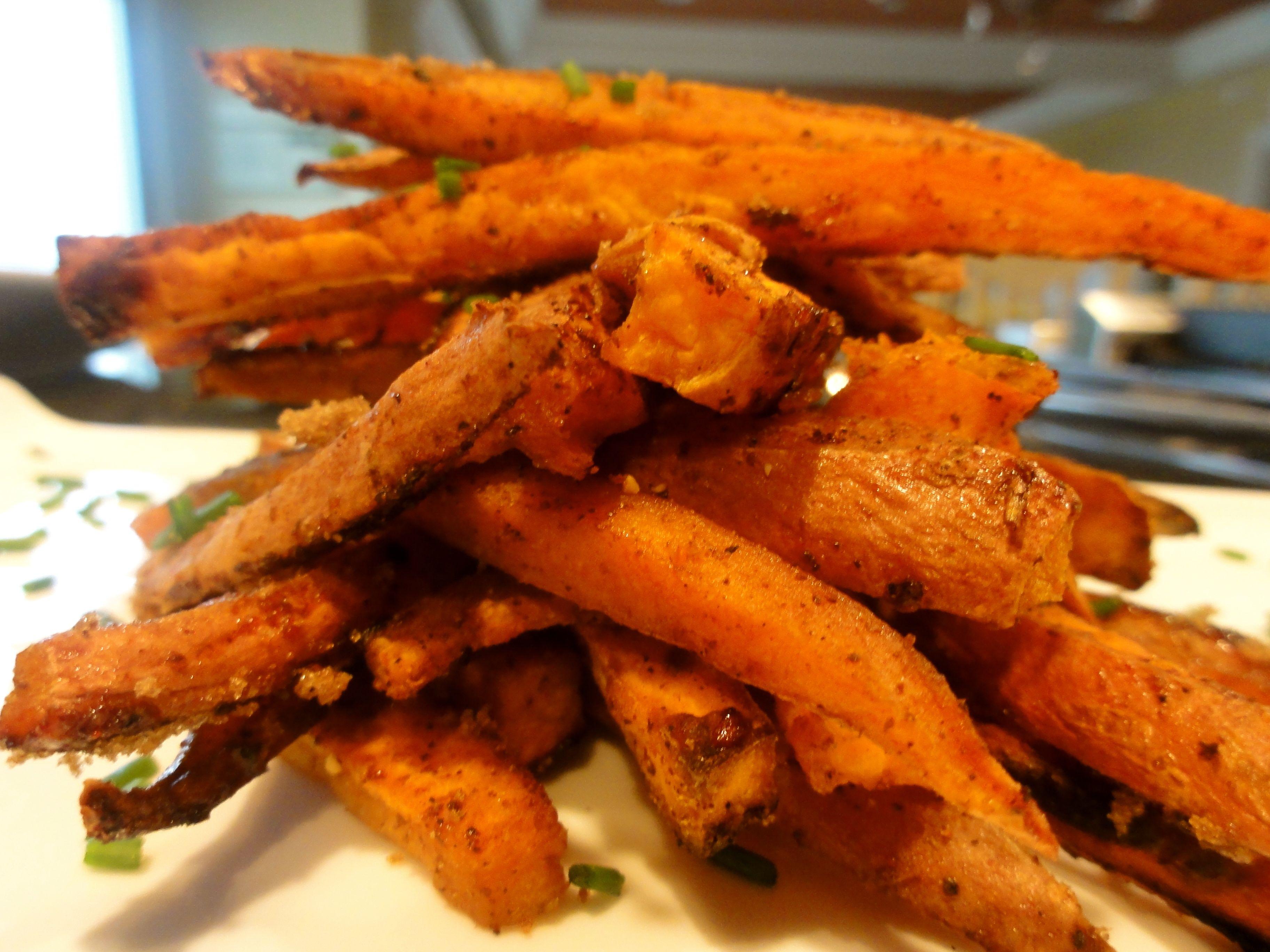 Baked Sweet & Spicy Sweet Potato Fries | Chef Priyanka