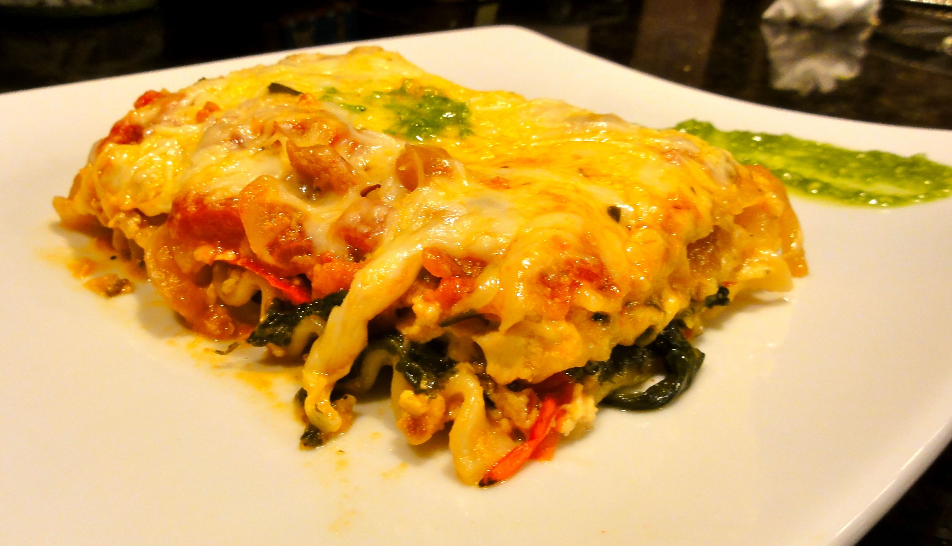 Vegetarian Lasagna Recipe with Caramelized Onions & Spinach – Chef ...